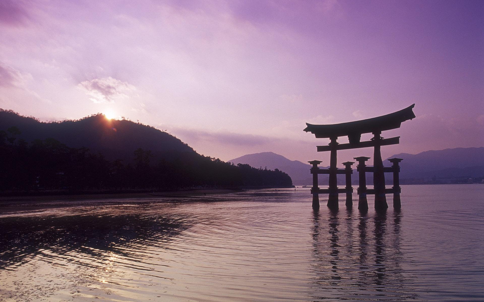 Torii gate wallpaper 721144 for Japanese landscape